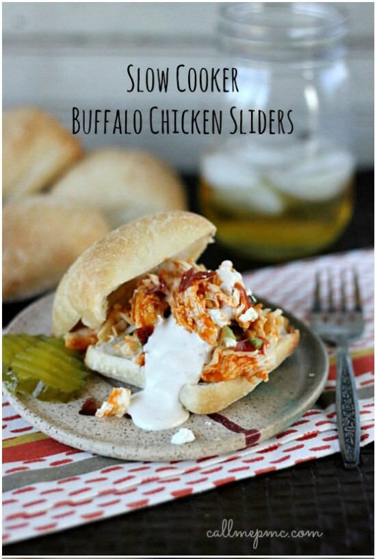 Slow Cooker Buffalo Chicken Sliders Cropped