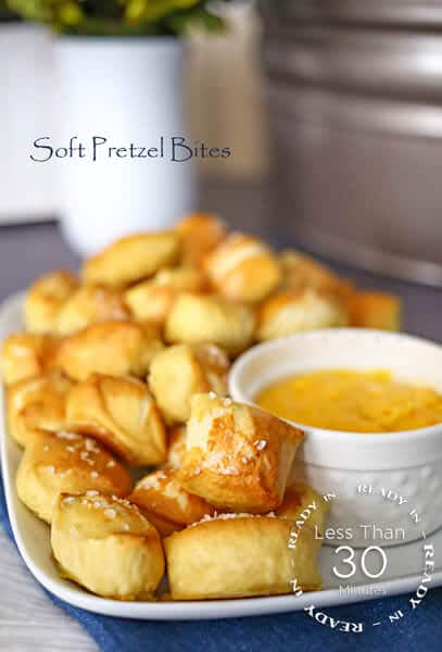 Soft Pretzel Bites from kleinworthco.com