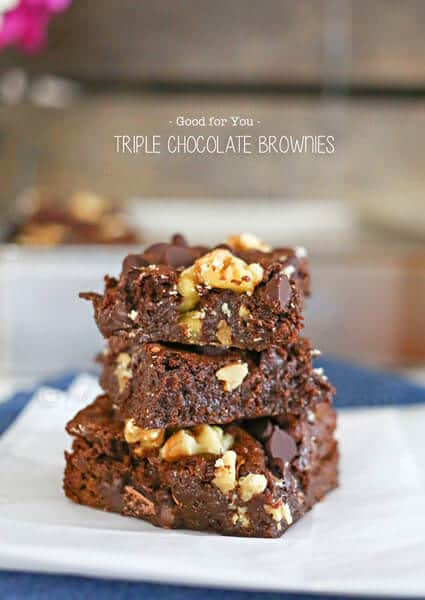 Good for You Triple Chocolate Brownies from kleinworthco.com