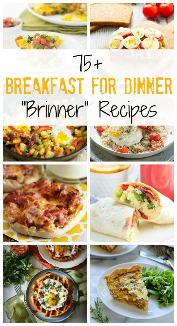 """Over 75 Breakfast for Dinner """"Brinner"""" Recipes on Julie's Eats and Treats!"""