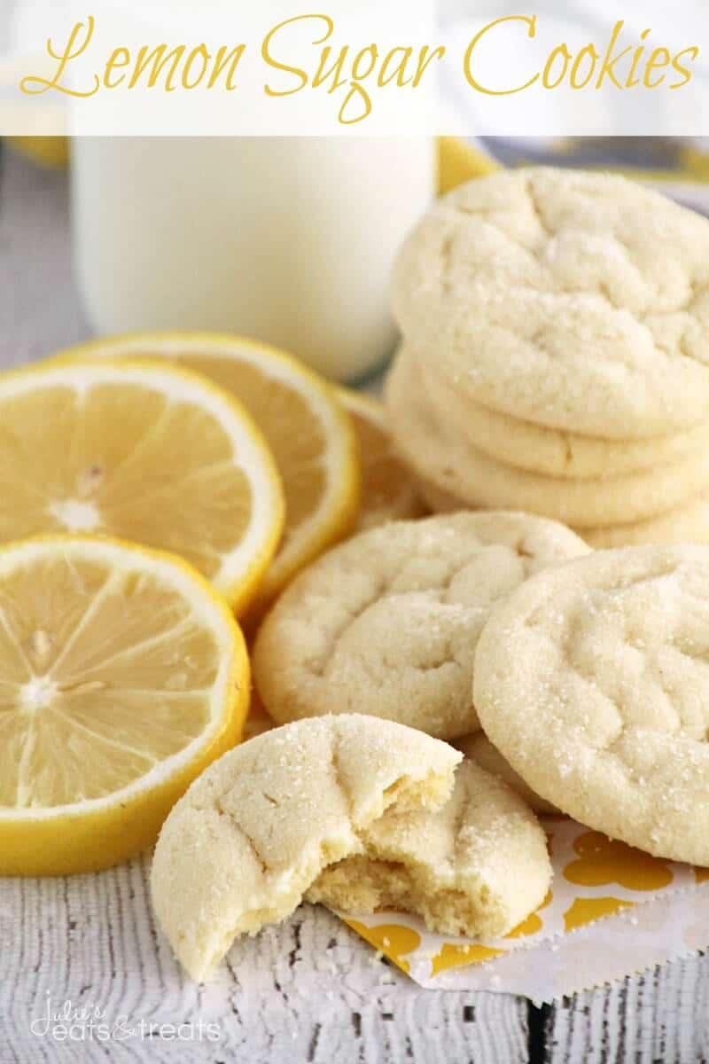 Lemon Sugar Cookies ~ Easy, Soft Lemon Pudding Cookies Rolled in Sugar!