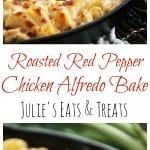 Red Red Pepper Chicken Alfredo Bake ~ Pasta Smothered in Light Roasted Red Pepper Sauce, Chicken & Cheese!