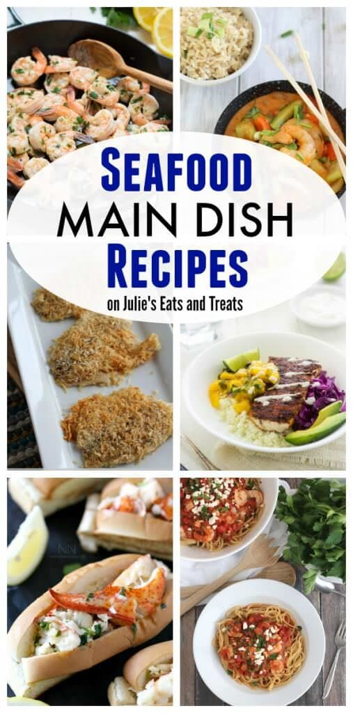 Seafood Main Dish Recipes on Julie's Eats and Treats including shrimp, salmond, tilapia and more!