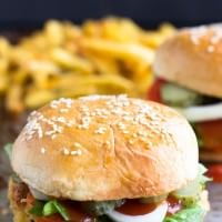 Feta Stuffed Quinoa Burgers ~ Delicious, Easy Gluten Free Quinoa Burgers Stuffed with Feta Cheese and Seasonings!