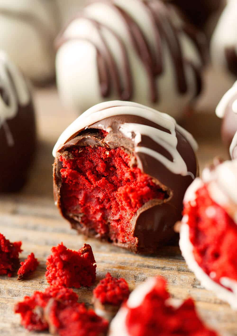 Red Velvet Cake Truffles are a must make for Valentine's Day. So easy and oh so good!