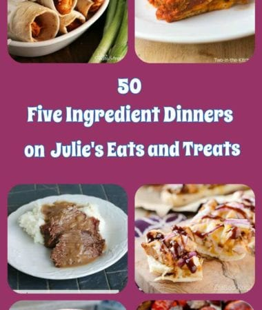 50 fantastic dinner ideas that only call for 5 ingredients! You know you can handle a recipe that only has 5 ingredients! Quick, Easy and Satisfying Dinner Recipes!