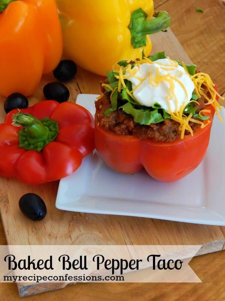 Baked-Bell-Pepper-Taco