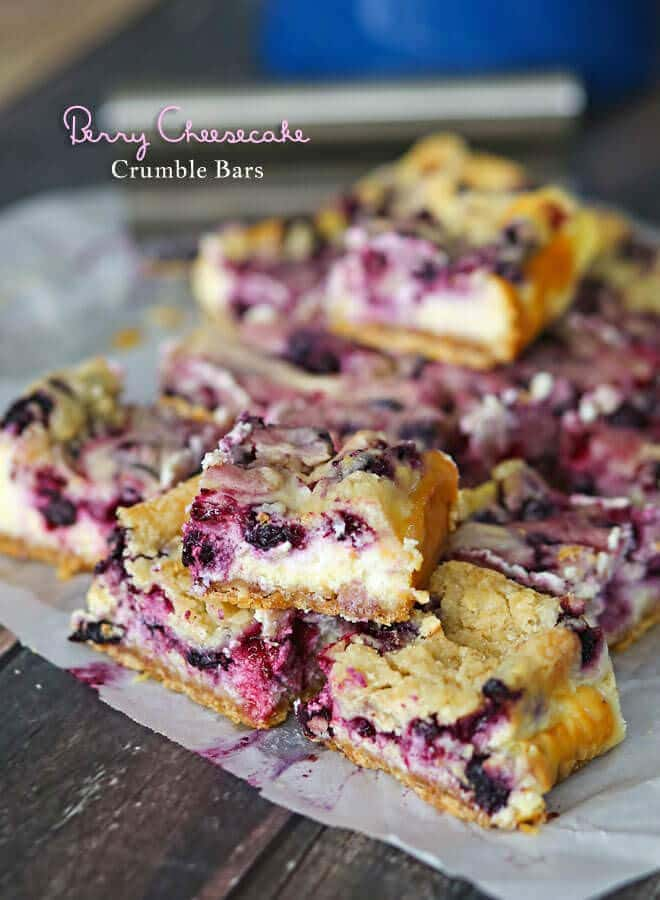 Berry Cheesecake Crumble Bars - Julie's Eats & Treats