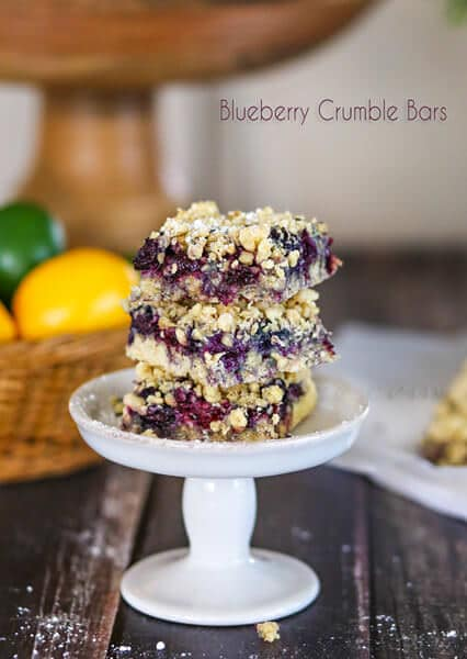 Blueberry Crumble Bars from kleinworthco.com