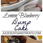 Lemon Blueberry Dump Cake ~ Quick & Easy Dessert Loaded with Blueberry Pie Filling and topped with Lemon Cake! Only Three Ingredients!