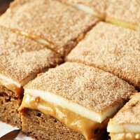 Dulce de Leche Snickerdoodle Bars ~ Chewy Snickerdoodle Crust topped with a Layer of Dulce de Leche and then White Chocolate and Cinnamon Sugar!