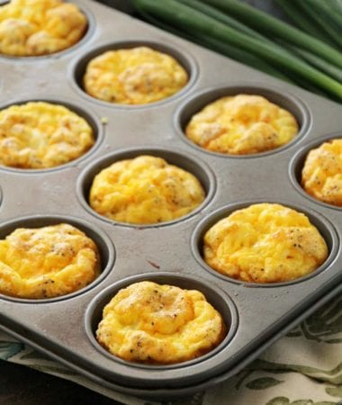 Ham & Cheese Egg Muffins ~ Quick, Easy and Delicious Breakfast or Snack! Fluffy Egg Muffins with Ham & Cheese!