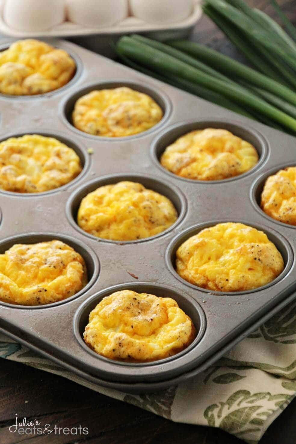 Ham & Cheese Egg Muffins ~ Quick, Easy and Delicious Breakfast or Snack!  Fluffy
