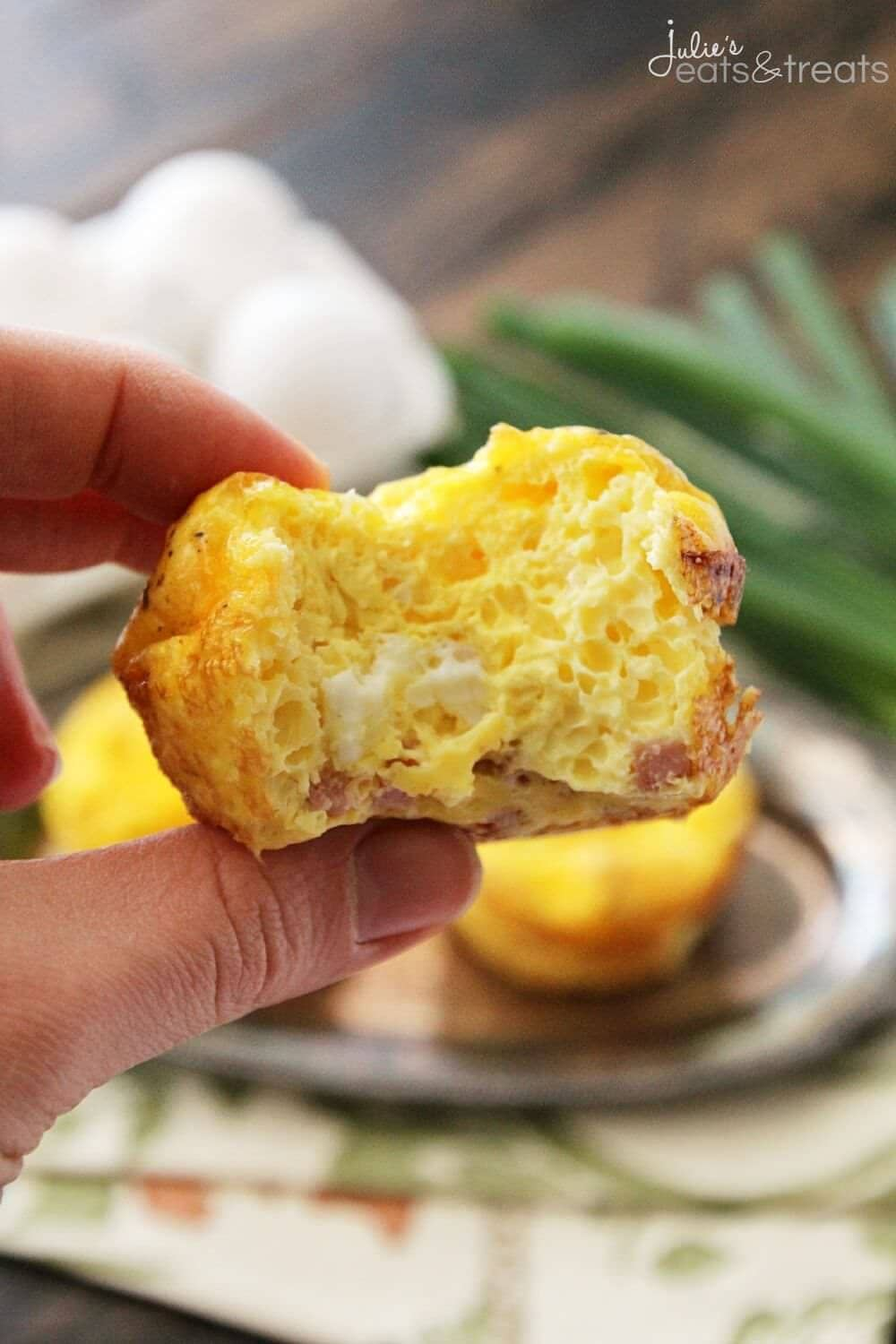 Ham & Cheese Egg Muffin Recipe ~ Quick, Easy and Delicious Breakfast or Snack! Fluffy Egg Muffins with Ham & Cheese!