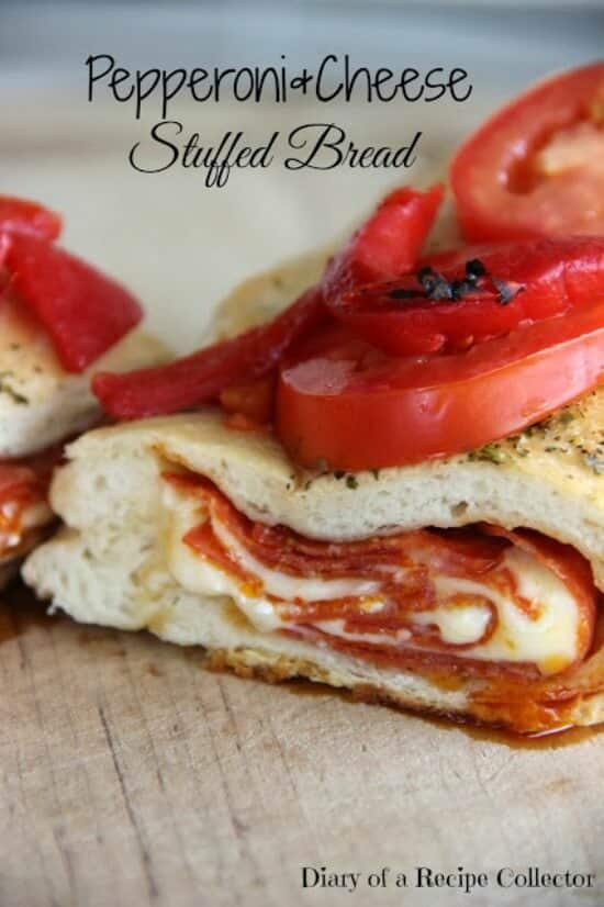Pepperoni & Cheese Stuffed Bread