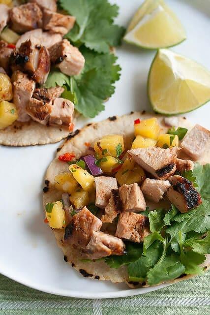 pork tacos with pineapple salsa
