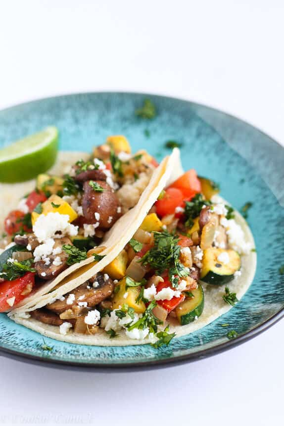 vegetable tacos