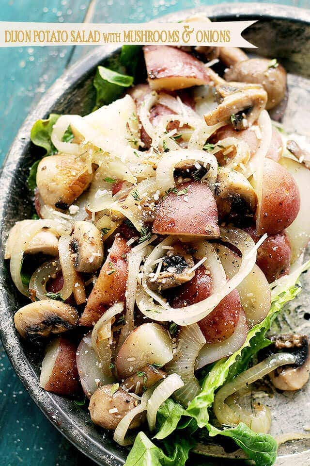 Dijon-Potato-Salad-with-Mushrooms-and-Onions-at-Diethood