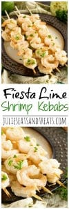Fiesta Lime Shrimp Kebabs ~ Quick & Easy Recipe! Shrimp Kebabs Marinated in Lime Juice and Seasonings then Grilled to Perfect!