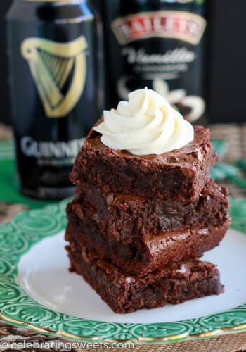 Guinness Brownies with Irish Cream Frosting from Celebrating Sweets