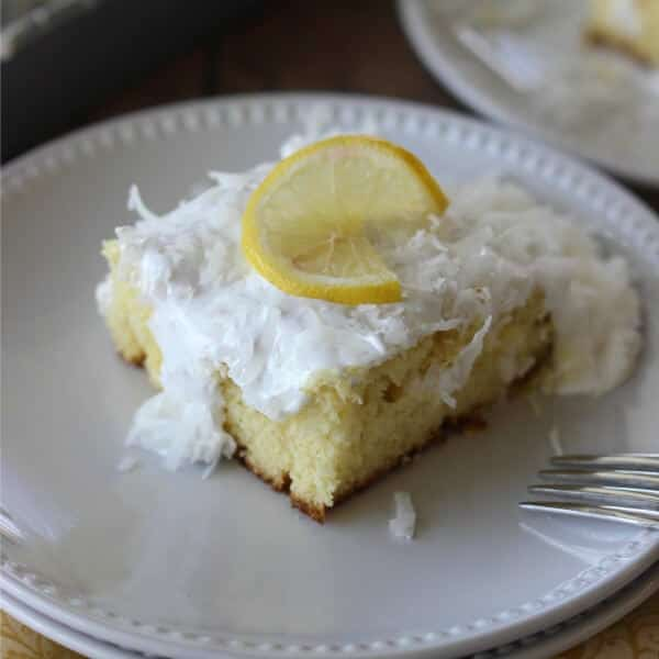 Coconut Lemon Curd Poke Cake