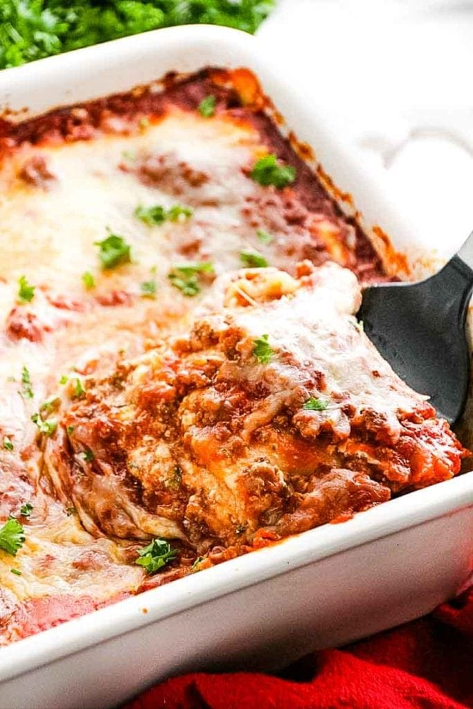 Lasagna Recipe Easy and homemade with dish