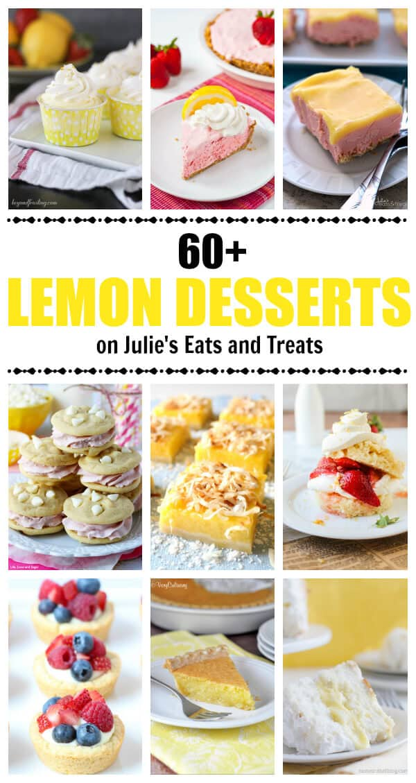 Spring into the new season with a delicious lemon dessert! Try lemon pie, lemon cupcakes, lemon cookies and more!
