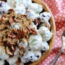 Light & Creamy Grape Salad ~ The Favorite Traditional Grape Salad Recipe Lightened up with a Few Simple Ingredients!