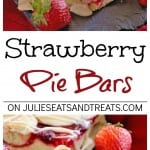 Strawberry Pie Bars ~ Quick and Easy Bars Stuffed with Strawberry Pie Filling in between a Soft and Delicious Almond Crust then Drizzled with Almond Icing!