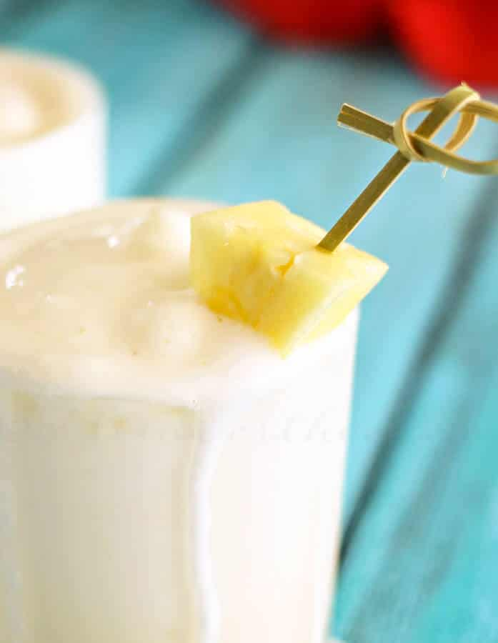 Pineapple Cooler ~ Cool, Sweet & Creamy Dessert Drink Recipe Perfect for Hot Summer Days!