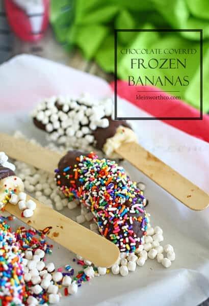 Chocolate Covered Frozen Bananas