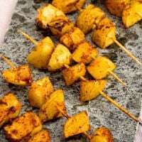 Barbecue Potato Kebabs ~ Quick and Easy Grilling Recipe! Potatoes Seasoned with Barbecue Seasoning and Grilled to Perfection!