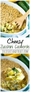 Cheesy Zucchini Casserole ~ Delicious, Comforting Cheesy Zucchini Casserole Recipe Stuffed with Summer Squash, Zucchini & Colby Jack Cheese!