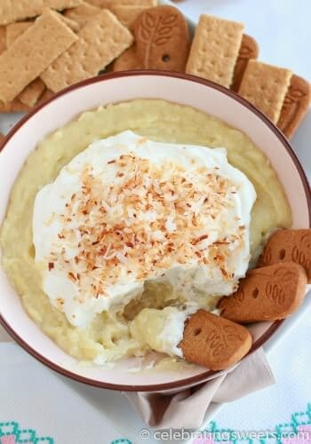 Coconut Cream Pie Dip from Celebrating Sweets