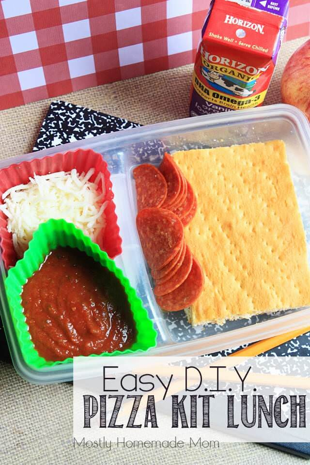 Easy DIY Pizza Kit Lunch 1
