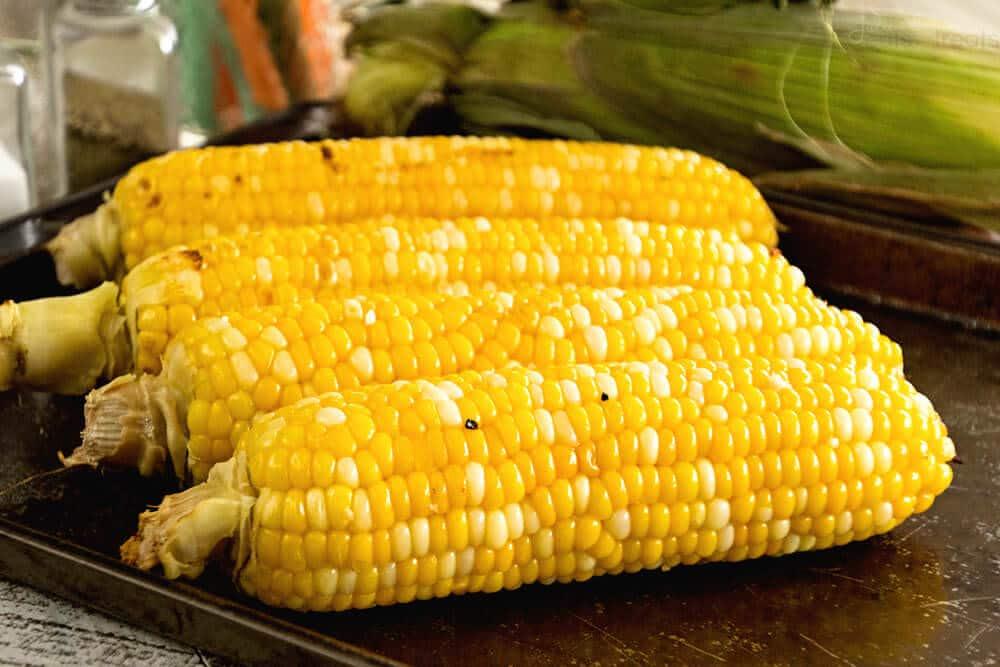 Grilled Garlic Butter Corn ~ Fresh, Juicy Sweet Corn Recipe Grilled in Garlic Butter!