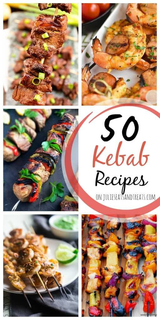 5o Kebab Recipes ~ Everything from Chicken, to Steak, to Shrimp, to Veggies on a Stick! All of the best Main Dish Kebab Recipes Rounded up for you!