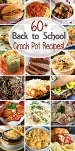 60+ Dinner Crock Pot Recipes ~ Tons of easy recipes perfect for any busy family when you need to get dinner on the table fast!