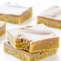 Pumpkin Spice Latte Blondies Recipe ~ Rich, dense, never cakey pumpkin blondies covered in a spiced coffee brown sugar glaze -- the perfect fall dessert! Get your Pumpkin Spice Latte fix on the go!