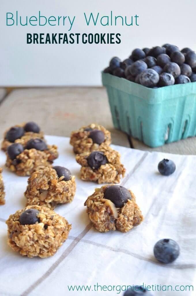 blueberry walnut breakfast cookies