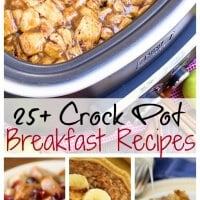 25+ Breakfast Crock Pot Recipes ~ Everything from cinnamon rolls, breakfast casseroles, oatmeal and a whole bunch of other amazing things all made in your Crock Pot!