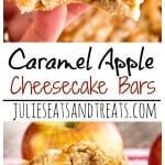 Caramel Apple Cheesecake Bars Recipe ~ Delicious Apple Bars with a Cream Cheese Layer that Melt in Your Mouth! Don't forget the Caramel Topping!