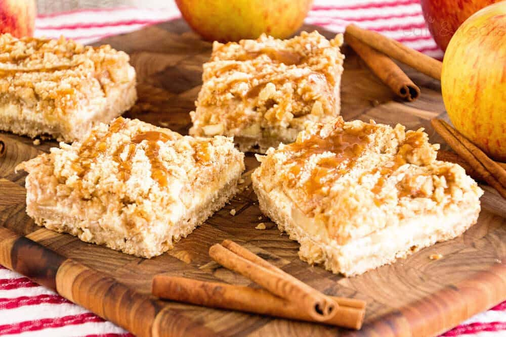 Caramel Apple Cream Cheese Cookie Bars Recipe — Dishmaps