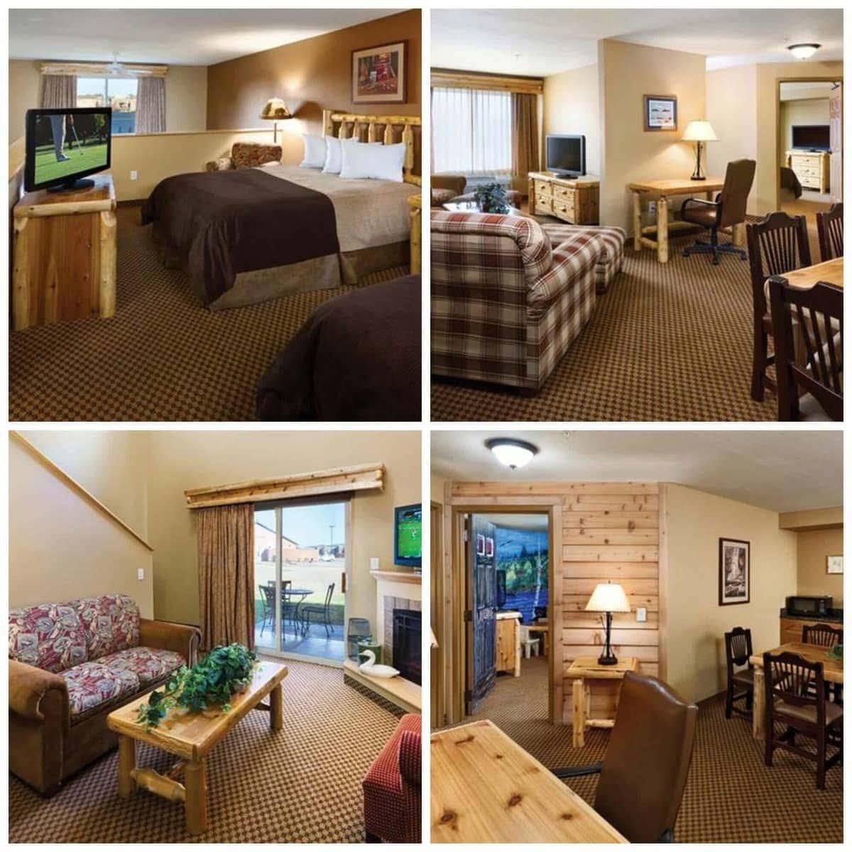 Arrowwood Lodge Room Collage