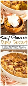 Easy Pumpkin Dump Dessert ~ Quick, Easy Dessert Recipe Loaded with Pumpkin, Spices and Yellow Cake Mix!
