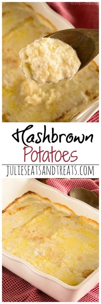 Hashbrown Casserole Recipe ~ Creamy, Delicious Hashbrowns! This is the Potato Dish we ask Mom for EVERY HOLIDAY!