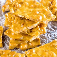 Microwave Peanut Butter Brittle Recipe ~ Quick and Easy Christmas Treat that's Made in your Microwave! This Sweet is perfect for Goodie Trays!