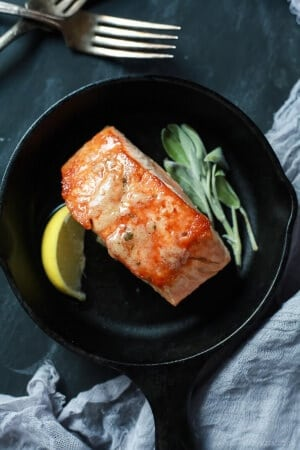 Pan Seared Salmon with Sage Brown Butter Sauce-web-6