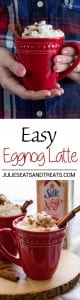 Easy Eggnog Latte Recipe ~ Festive, Delicious Dairy-Free Eggnog Latte Perfect for the Holiday Season!