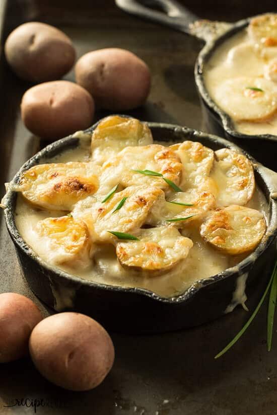 Easy Skillet Scalloped Potatoes Au Gratin www.thereciperebel.com (2 of 10)